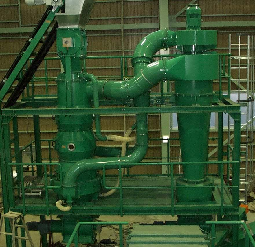 Circulation Air Cone Separator green